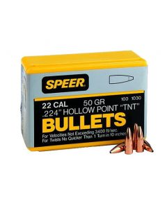 Speer TNT Varmint .224 22 Caliber 50 Grain Jacketed Hollow Point(250 count)